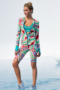 WILD HEART - Fitted Zip Jacket & Mixed Waistband Capri • Multicolor (874515300396)