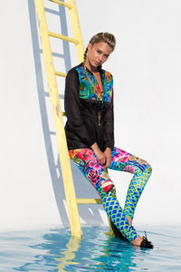 INKED BABE - Inked Babe Wind Breaker & Engineered Print Legging • Multicolor (874447339564)