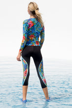INKED BABE - Long Sleeve Inked Top & Mesh Panel Capri • Multicolor