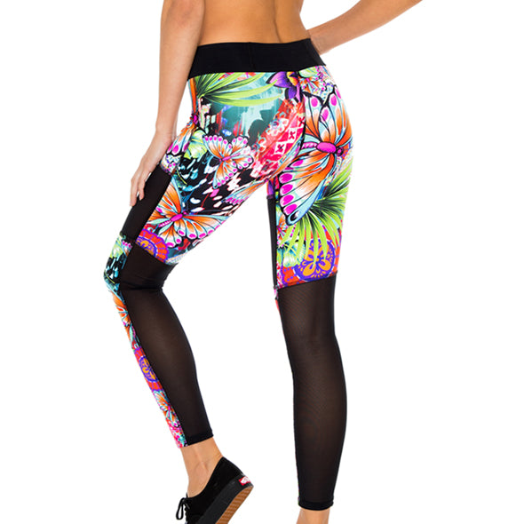 VIVA CUBA - Mesh Cut Out Legging