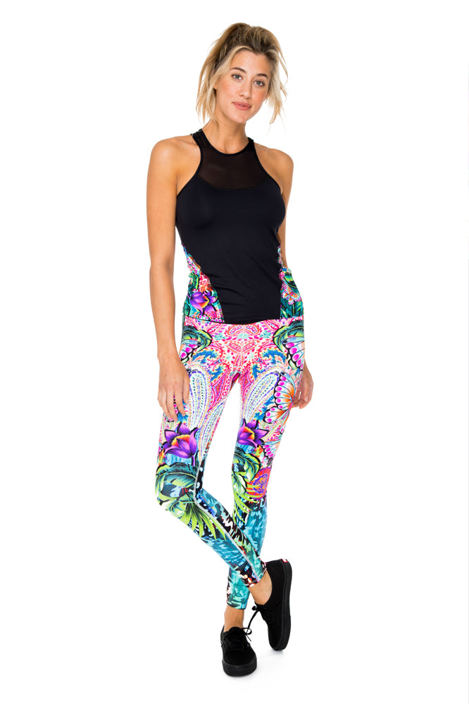 VIVA CUBA - Tank Top & Engineered Print Legging • Multicolor