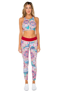 AZUCAR - Racer Back Sports Bra & Skinny Leggings • Multicolor (874528276524)