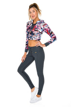 CIENFUEGOS - Grommet Cropped Hoodie Jacket & Grommet Center Legging • Multicolor