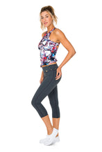 CIENFUEGOS - Tank Top & Grommet Side Capri Legging • Multicolor