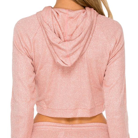 SABOR - Hoodie Cut Out Cropped Jacket