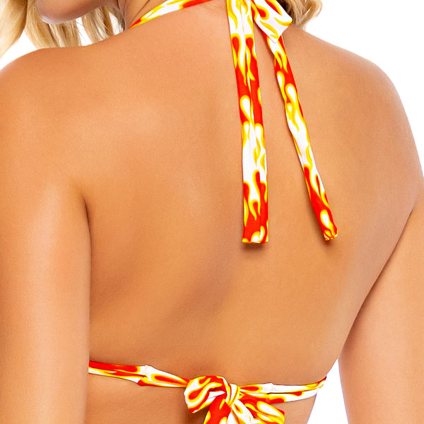 FLAME OF LOVE - Triangle Halter Top