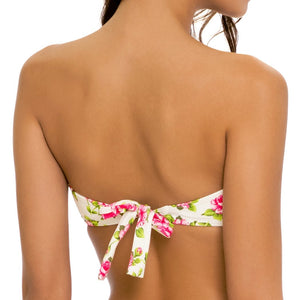 BLOOMIN' BEAUTY - Gold V Ring Bandeau Top