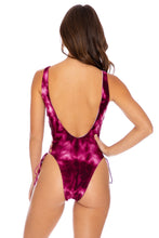 INK EXPLOSION - Open Side One Piece Bodysuit • Violet