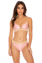 DOTTED DELIGHT - Underwire Top & High Leg Banded Waist Bottom • Pink Lemonade