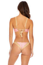 DOTTED DELIGHT - Bandeau Top & Brazilian Bottom • Pink Lemonade