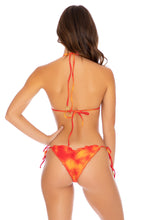FIRE DANCER - Triangle Top & Wavey Ruched Back Tie Side Bottom • Fuego
