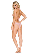 COSITA BUENA - Wavey Triangle Top & Wavey Brazilian Tie Side Ruched Back • Rosa