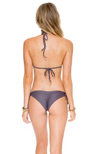 COSITA BUENA - Wavey Triangle Top & Wavey Brazilian Tie Side Ruched Back • Piedra Gris