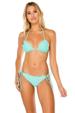 COSITA BUENA - Wavey Triangle Top & Wavey Ruched Back Brazilian Tie Side Bottom • Agua Dulce