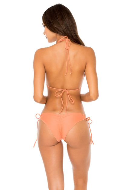 COSITA BUENA - Wavey Triangle Top & Wavey Ruched Back Brazilian Tie Side Bottom • Azafran