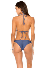 COSITA BUENA - Wavey Triangle Top & Wavey Ruched Back Brazilian Tie Side Bottom • Azulejos