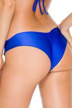 COSITA BUENA - Wavey Triangle Top & Wavey Brazilian Ruched Back Bottom • Electric Blue