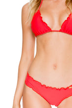 COSITA BUENA - Wavey Triangle Top & Wavey Brazilian Ruched Back Bottom • Girl On Fire