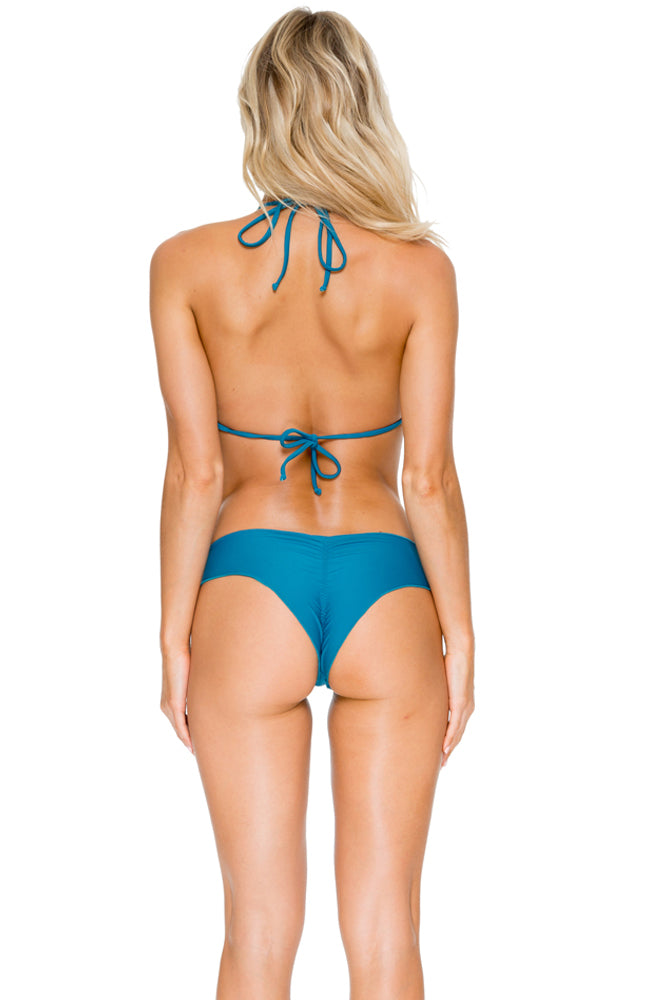 COSITA BUENA - Wavey Triangle Top & Wavey Brazilian Ruched Back Bottom • Miramar