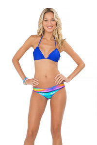 COSITA BUENA - Wavey Triangle Top & Full Ruched Back Bottom • Multicolor