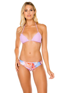COSITA BUENA - Wavey Triangle Top & Full Bottom • Lavanda