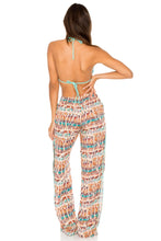 COSITA BUENA - Wavey Triangle Top & Split Side Wide Leg Pant • Agua Dulce