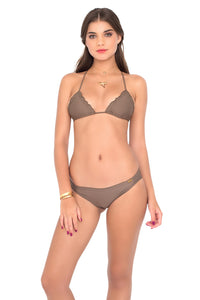 COSITA BUENA - Wavey Triangle Top & Full Ruched Back Bottom • Sandy Toes