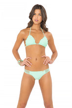 COSITA BUENA - Wavey Triangle Top & Multi Strap Ruched Brazilian • Mint Convertible