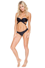 COSITA BUENA - Fama Multi Way Underwire Bandeau & Seamless Front Wavey Brazilian Ruched Bottom • Black