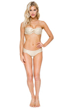 COSITA BUENA - Fama Multi Way Underwire Bandeau & Scrunch Side Full Bottom • Gold Rush