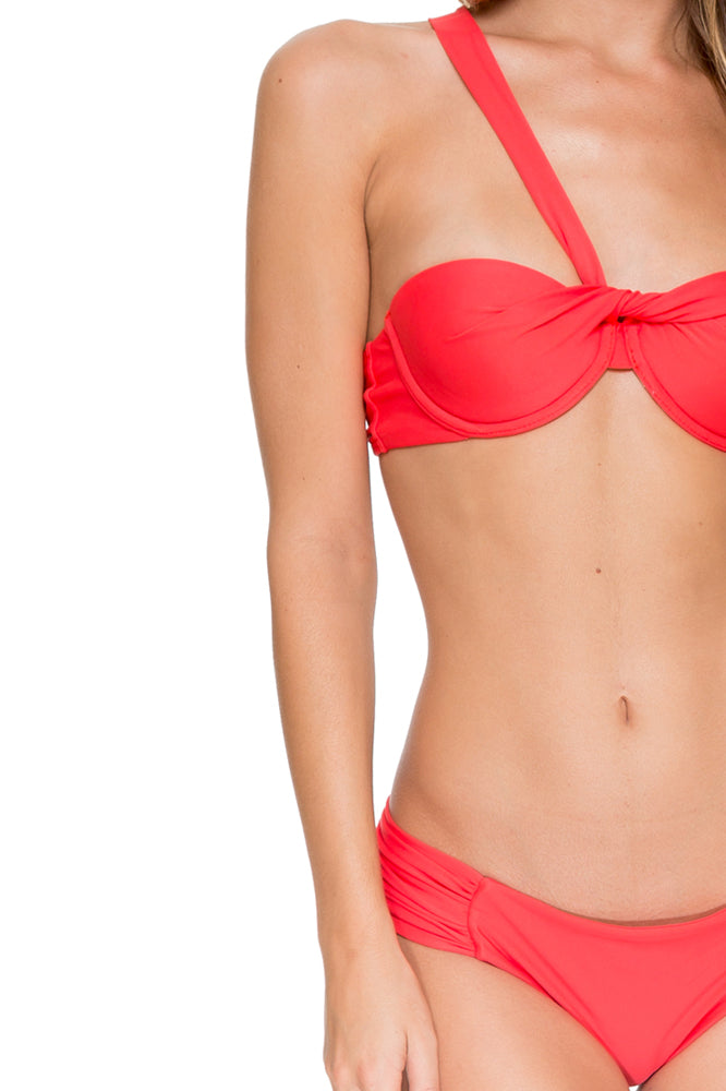 COSITA BUENA - Fama Multi Way Underwire Bandeau & Scrunch Side Full Bottom • Girl On Fire