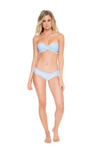 COSITA BUENA - Fama Multi Way Underwire Bandeau & Scrunch Side Full Bottom • Cielo