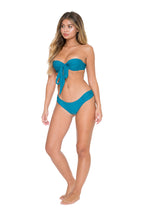 COSITA BUENA - Fama Multi Way Underwire Bandeau & Scrunch Side Full Bottom • Miramar