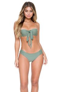 COSITA BUENA - Fama Multi Way Underwire Bandeau & Scrunch Side Full Bottom • Army