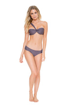COSITA BUENA - Fama Multi Way Underwire Bandeau & Scrunch Side Full Bottom • Piedra Gris