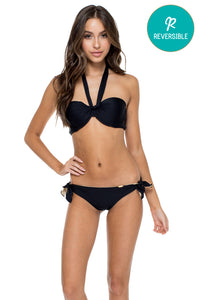 COSITA BUENA - Fama Multi Way Underwire Bandeau & Cayo Coco Brazilian Bottom • Black