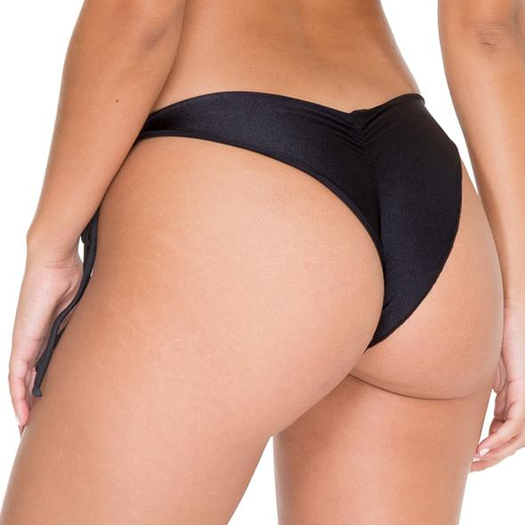 COSITA BUENA - Wavey Ruched Back Brazilian Tie Side Bottom-WAC