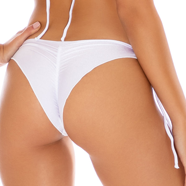 COSITA BUENA - Wavey Ruched Back Tie Side Bottom-CLS