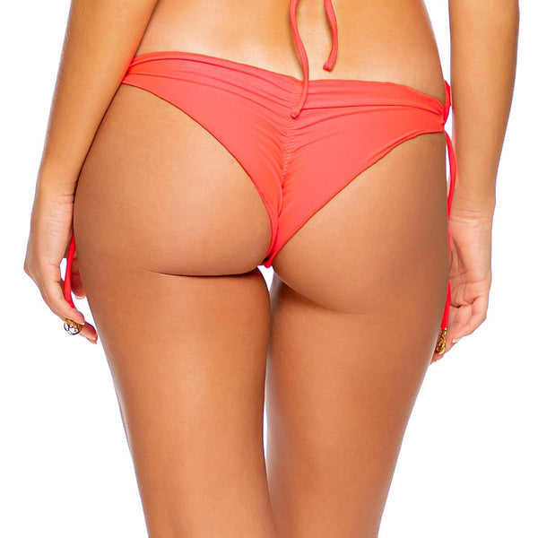 COSITA BUENA - Wavy Ruched Back Tie Side Bottom-DS