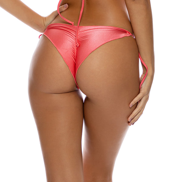 COSITA BUENA - Wavey Brazilian Tie Side Ruched Back-LBC