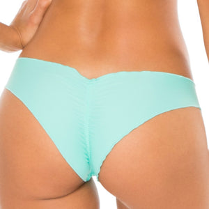 COSITA BUENA - Seamless Wavey Ruched Back Brazilian Bottom-WAC