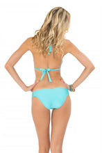 COSITA BUENA - Halter Triangle Top & Multi Braid Full Bottom • Aruba Blue