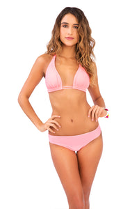 COSITA BUENA - Halter Triangle Top & Reversible Seamless Full Bottom • Pink Sunsets
