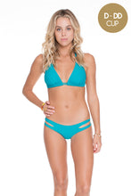COSITA BUENA - Halter Triangle Top & Reversible Zig Zag Open Side Moderate Bottom • Exuma