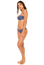 COSITA BUENA - Underwire Push Up Bandeau Top & Seamless Wavey Ruched Back Brazilian Bottom • Azulejos