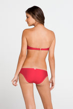 COSITA BUENA - Underwire Push Up Bandeau & Multi Braid Full Bottom • Bombshell Red