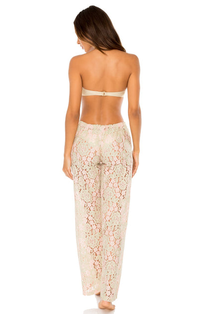 COSITA BUENA - Underwire Push Up Bandeau Top & Beach Pant • Gold Rush