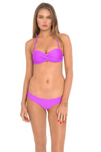 COSITA BUENA - Underwire Push Up Bandeau & Reversible Buns Out Bottom • Purple Ocean