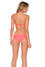 COSITA BUENA - Underwire Push Up Bandeau & Reversible Seamless Full Bottom • Fire Coral