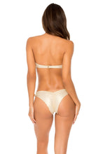 COSITA BUENA - Underwire Push Up Bandeau Top & Cayo Coco Brazilian Bottom • Gold Rush